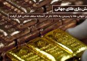انس جهانی طلا در نزدیکی سقف قیمتی تاریخی