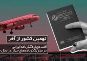 اعتبار گذرنامه ایران در سال ۲۰۲۰: نهمین کشور از آخر
