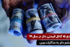 فتح ۱۵ کانال قیمتی دلار در سال ۹۹