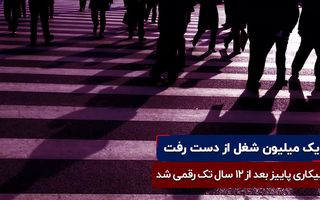 کاهش نرخ مشارکت در ایران | یک میلیون شغل از دست رفت