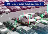 ۶ نکته مهم عرضه خودرو در بورس کالا